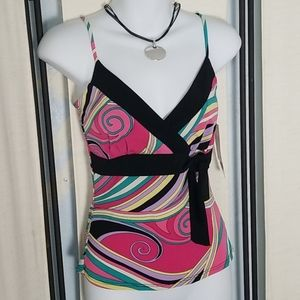 NWT 6 degrees pink black MOD tank top sz S